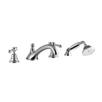 Deck Mount Tub Filler Classic Four Holes Deck Mounted Tub Faucet With Hand Shower S5064 Fima S5064