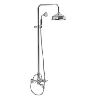 Showerpipe System Wall Mounted Classic Tub/Shower Faucet With Rainhead And Hand Shower Set S5084/2 Fima S5084/2