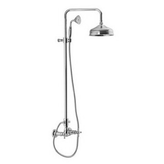 Showerpipe System Wall Mounted Classic Shower Faucet With Rainhead And Hand Shower Set S5085/2 Fima S5085/2