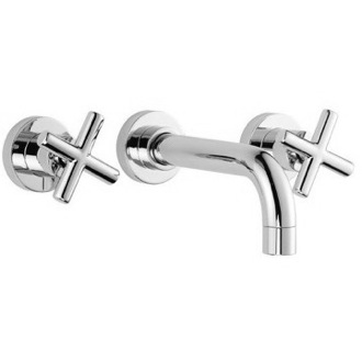 Bathroom Sink Faucet Wall Mounted Three Hole Bathroom Sink Faucet With Short Spout S5321/5  Fima S5321/5/S2230