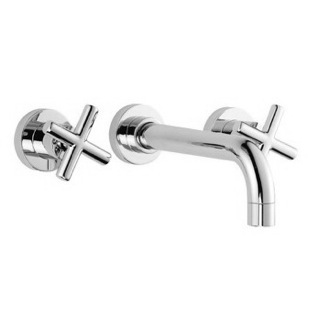 Bathroom Sink Faucet Wall Mounted Three Hole Bathroom Sink Faucet With Long Spout S5321L/5  Fima S5321L/5/S2230