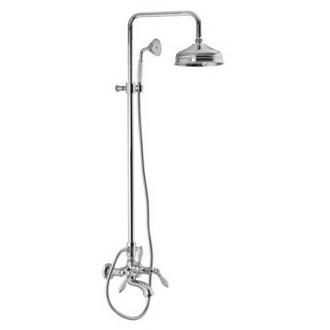 Shower Column Wall Mounted Classic Tub/Shower Faucet With Rainhead And Hand Shower Set S5404/2 Fima S5404/2