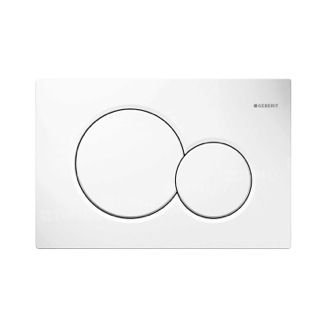 Geberit Dual Flush Actuator Plate in Alpine White Geberit 115.770.11.5