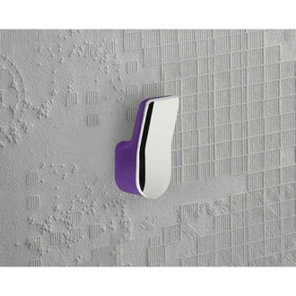 Bathroom Hook Lilac and Chrome Wall Mounted Towel or Robe Hook 1426-32 Gedy 1426-32