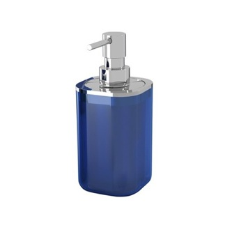 Soap Dispenser Chrome Square Soap Dispenser in Assorted Colors 1455 Gedy 1455