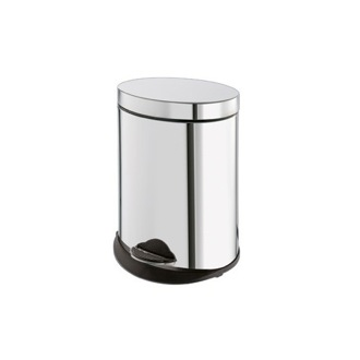 Waste Basket Round Chrome Waste Bin With Pedal 2809-13 Gedy 2809-13