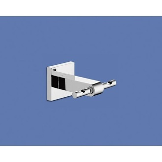 Wall Mounted Chromed Double Robe or Towel Hook Gedy 2826-13