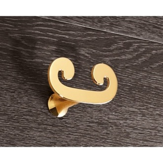 Bathroom Hook Gold Double Hook Gedy 3326-87
