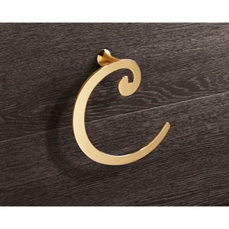 Gold Towel Ring Crescent Shape Gedy 3370-87
