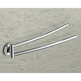 Swivel Towel Bar 14 Inch Polished Chrome Double Swivel Towel Bar Gedy 4223-13