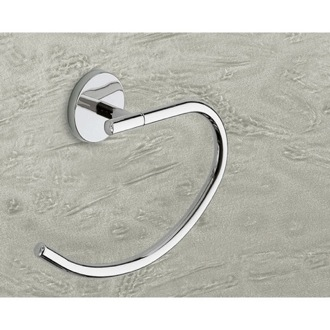 Curved Polished Chrome Towel Ring Gedy 4270-13