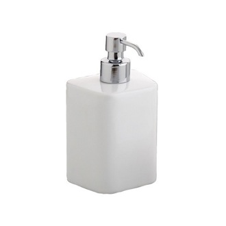 Soap Dispenser White Porcelain Square Soap Dispenser 4581-02 Gedy 4581-02