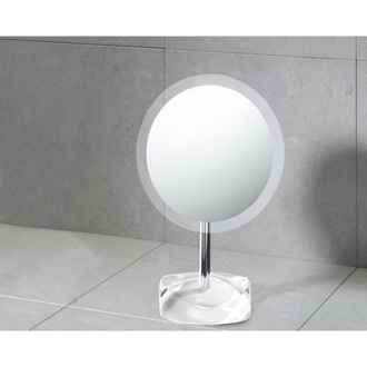 Magnifying Mirror with Round White Colored Base Gedy 4607-22