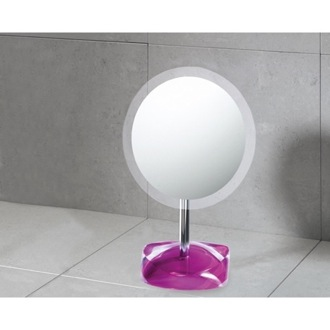 Makeup Mirror Magnifying Mirror with Round Ruby Red Colored Base Gedy 4607-53
