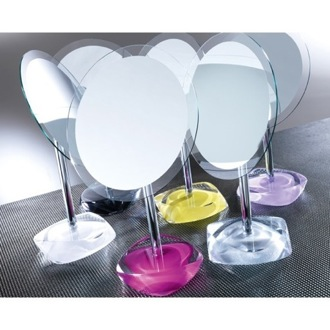 Makeup Mirror Magnifying Mirror with Round Colored Base Gedy 4607