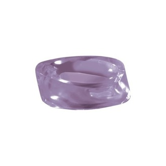 Lilac Round Countertop Soap Holder Gedy 4611-79