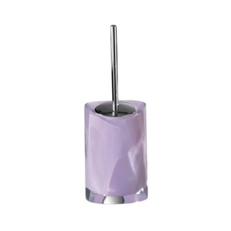 Lilac Round Toilet Brush Holder Gedy 4633-79