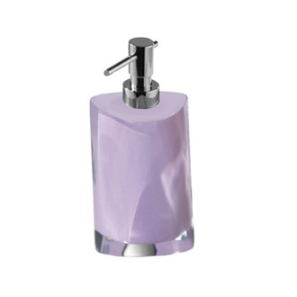Soap Dispenser Lilac Round Countertop Soap Dispenser Gedy 4681-79