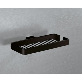 Shower Soap Holder Wall Mounted Square Matte Black Wire Double Soap Holder 5418-M4 Gedy 5418-M4
