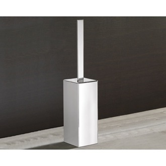 Square Polished Chrome Toilet Brush Holder Gedy 5433-13