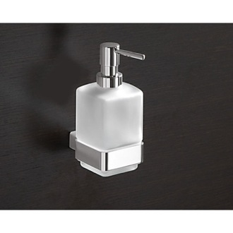 Soap Dispenser Wall Mounted Frosted Glass Soap Dispenser Gedy 5481-13