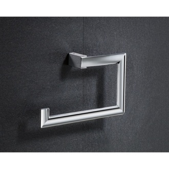 Towel Ring Square Chromed Brass Towel Ring 5570-13 Gedy 5570-13
