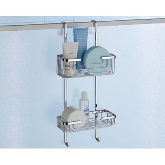 Shower Basket Over-the-Door Double Shower Basket 5683-13 Gedy 5683