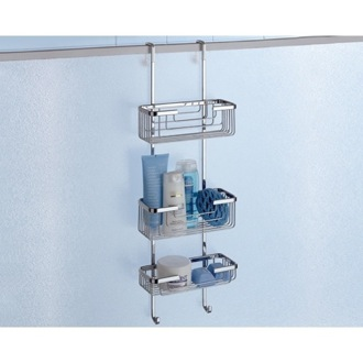 Over-the-Door Triple Shower Basket Gedy 5684