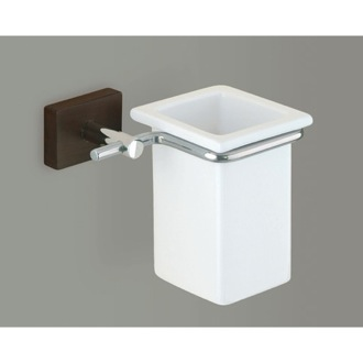 Toothbrush Holder White Toothbrush Holder with Chrome and Cherry or Washed Oak Wood Wall Mount Gedy 6610