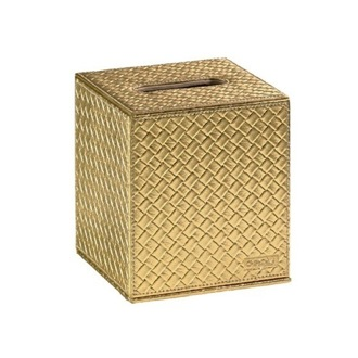 Tissue Box Cover Gold Faux Leather Tissue Box Cover 6702-87 Gedy 6702-87