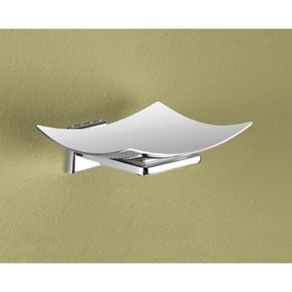 Soap Dish Wall Mounted Curved Polished Chrome Soap Dish Gedy 6911-01-13