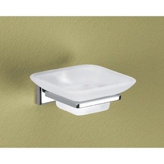 Soap Dish Wall Mounted Frosted Glass Soap Dish Gedy 6911-13