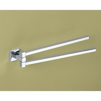 Swivel Towel Bar 14 Inch Polished Chrome Double Swivel Towel Bar 6923-13 Gedy 6923-13