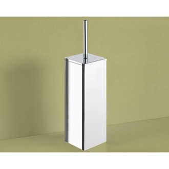 Square Polished Chrome Toilet Brush Holder Gedy 6933-13