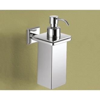 Soap Dispenser Wall Mounted Square Polished Chrome Soap Dispenser Gedy 6981-01-13