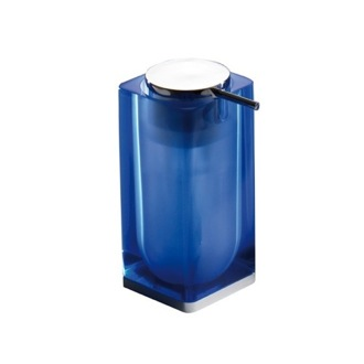 Soap Dispenser Blue Square Counter Soap Dispenser 7381-05 Gedy 7381-05