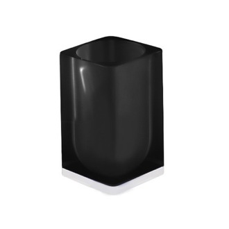 Black Square Toothbrush Holder Gedy 7398-85