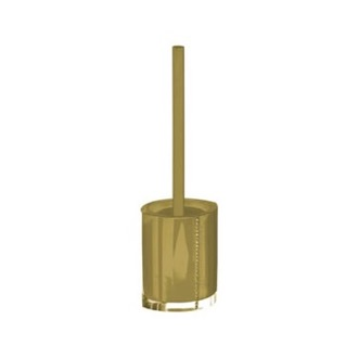 Toilet Brush Gold Toilet Brush Holder with Crystals Gedy 7433-87
