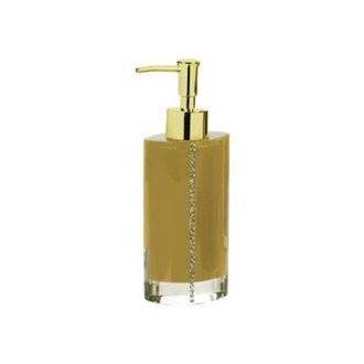 Soap Dispenser Gold Countertop Soap Dispenser with Crystals Gedy 7481-87
