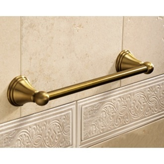 Towel Bar Classic-Style Bronze 14 Inch Towel Bar 7521-35-44 Gedy 7521-35-44