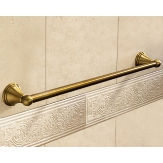 Towel Bar Classic-Style Bronze 24 Inch Towel Bar 7521-60-44 Gedy 7521-60-44