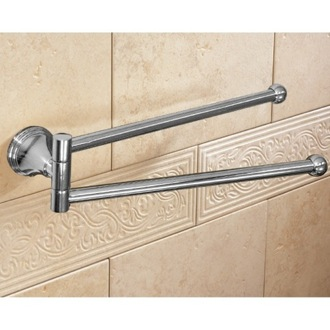 Swivel Towel Bar 14 Inch Polished Chrome Double Swivel Towel Bar 7523-13 Gedy 7523-13