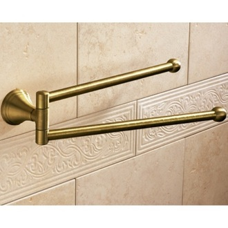 Swivel Towel Bar 14 Inch Bronze Double Swivel Towel Bar 7523-44 Gedy 7523-44