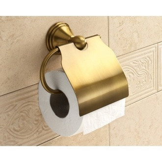 Bronze Toilet Roll Holder With Cover Gedy 7525-44