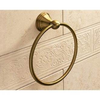Classic-Style Bronze Towel Ring Gedy 7570-44