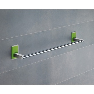 18 Inch Green Mounting Polished Chrome Towel Bar Gedy 7821-45-04