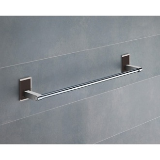 Towel Bar 18 Inch Black Mounting Polished Chrome Towel Bar 7821-45-14 Gedy 7821-45-14