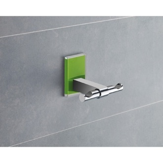Green Mounting Polished Chrome Double Hook Gedy 7826-04