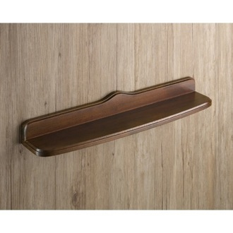 Bathroom Shelf Old Walnut Wood Bathroom Shelf 8119-55-95 Gedy 8119-55-95