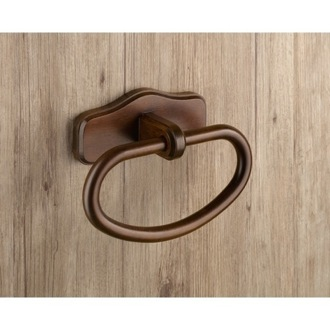 Towel Ring Classic Wood Towel Ring 8170-95 Gedy 8170-95